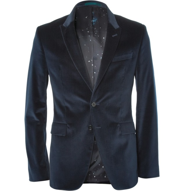 PS by Paul Smith Velvet Blazer - give your look a buzz with some color. Available here