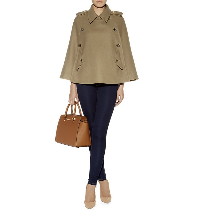Michael Michael Kors Military Cape, available here and here