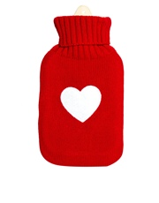 Hot water bottled complete with LOVE (cover) - $18.95  Available here