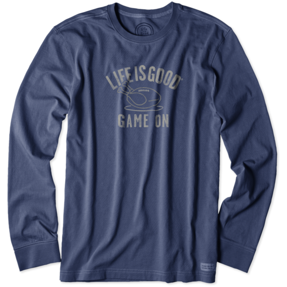 Life is Good long sleeve crusher tee, available here
